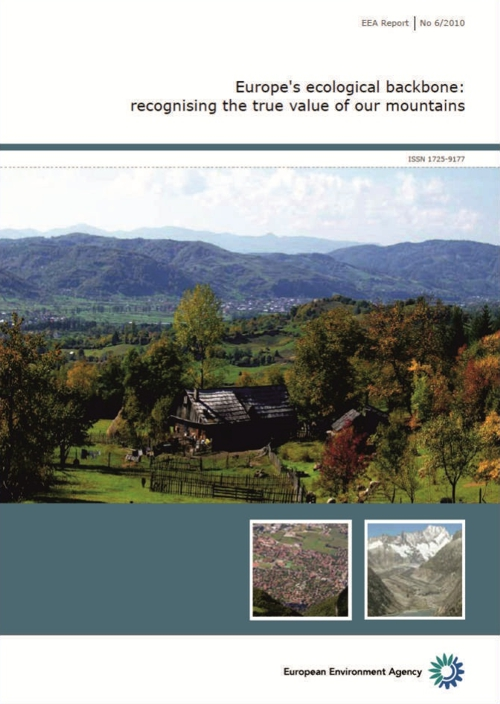 Cover of Europe's ecological backbone: recognising the true value of mountains