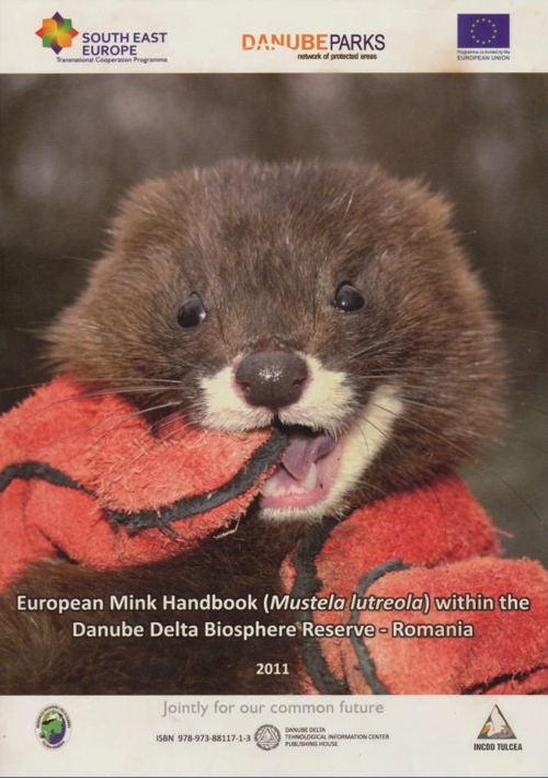 Cover of European Mink Handbook (Mustela lutreola) within the Danube Delta Biosphere Reserve - Romania